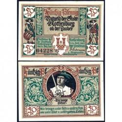 Allemagne - Notgeld - Rothenburg-ob-der-Taubel - 50 pfennig - Série II - 24/06/1921 - Etat : SPL+