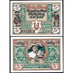 Allemagne - Notgeld - Rothenburg-ob-der-Taubel - 50 pfennig - Série III - 24/06/1921 - Etat : SPL+