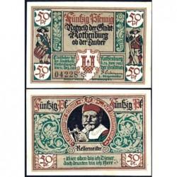 Allemagne - Notgeld - Rothenburg-ob-der-Taubel - 50 pfennig - Série IV - 24/06/1921 - Etat : SPL