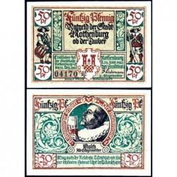 Allemagne - Notgeld - Rothenburg-ob-der-Taubel - 50 pfennig - Série V - 24/06/1921 - Etat : SPL+