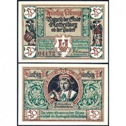 Allemagne - Notgeld - Rothenburg-ob-der-Taubel - 50 pfennig - Série VI - 24/06/1921 - Etat : SPL+