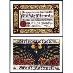 Allemagne - Notgeld - Rottweil-an-Neckar - 50 pfennig - 01/1918 - Etat : NEUF