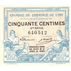 Lyon - Pirot 77-4 - 50 centimes - 2me série - 09/09/1915 - Etat : SPL
