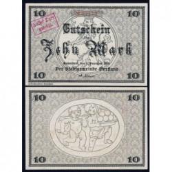 Allemagne - Notgeld - Rudolstadt - 10 mark - 01/12/1918 - Etat : NEUF