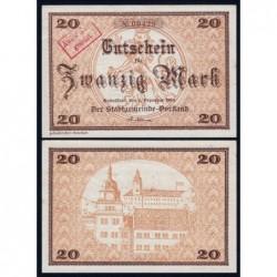 Allemagne - Notgeld - Rudolstadt - 20 mark - 01/12/1918 - Etat : SPL+