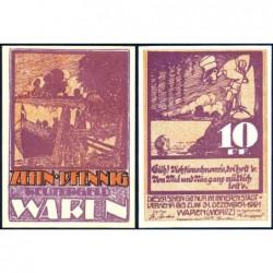 Allemagne - Notgeld - Waren - 10 pfennig - 1921 - Etat : NEUF