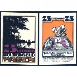 Allemagne - Notgeld - Waren - 25 pfennig - 1921 - Etat : SPL