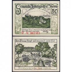 Allemagne - Notgeld - Röhrigshöfe-an-Werra - 50 pfennig - Série D - 1922 - Etat : SPL+
