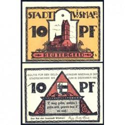Allemagne - Notgeld - Wismar - 10 pfennig - 1921 - Etat : SPL