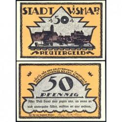 Allemagne - Notgeld - Wismar - 50 pfennig - 1921 - Etat : NEUF