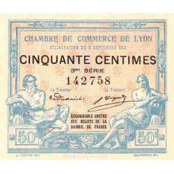 Lyon - Pirot 77-5 - 50 centimes - 3me série - 09/09/1915 - Etat : SUP+