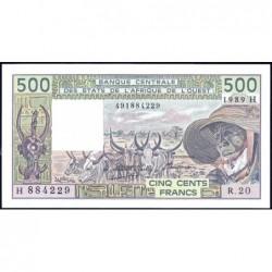 Niger - Pick 606Hk - 500 francs - Série R.20 - 1980 - Etat : pr.NEUF