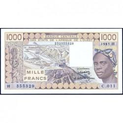 Niger - Pick 607Hf - 1'000 francs - Série C.011 - 1985 - Etat : TTB