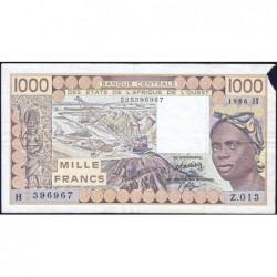 Niger - Pick 607Hg - 1'000 francs - Série Z.013 - 1985 - Etat : TB-