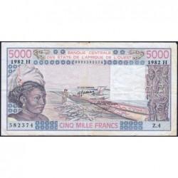 Niger - Pick 608Hg - 5'000 francs - Série Z.4 - 1982 - Etat : TTB-