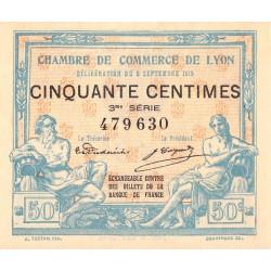 Lyon - Pirot 77-5 - 50 centimes - 3ème série - 1915 - Etat : SPL