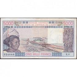 Niger - Pick 608Hk - 5'000 francs - Série E.8 - 1986 - Etat : TB