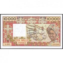 Niger - Pick 609Hh_2 - 10'000 francs - Série L.031 - 1987 - Etat : SPL à SPL+