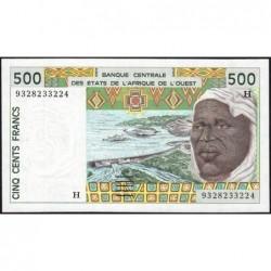 Niger - Pick 610Hc - 500 francs - 1993 - Etat : NEUF
