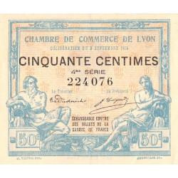 Lyon - Pirot 77-5 - 50 centimes - 4ème série - 1915 - Etat : SUP