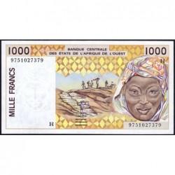 Niger - Pick 611Hg - 1'000 francs - 1997 - Etat : NEUF