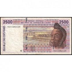 Niger - Pick 612Ha - 2'500 francs - 1992 - Etat : TB+