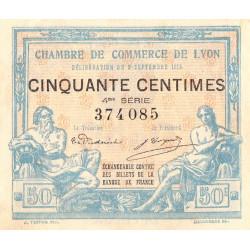 Lyon - Pirot 77-5 - 50 centimes - 4ème série - 1915 - Etat : SUP+