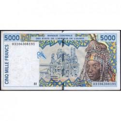 Niger - Pick 613Hl - 5'000 francs - 2003 - Etat : TTB