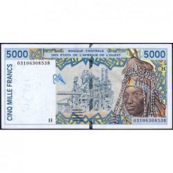 Niger - Pick 613Hl - 5'000 francs - 2003 - Etat : SUP