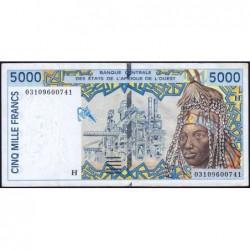 Niger - Pick 613Hl - 5'000 francs - 2003 - Etat : TTB+