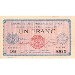 Lyon - Pirot 77-6 - 1 franc - 2e série 58 - 09/09/1915 - Etat : SUP+