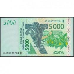 Niger - Pick 617Hc - 5'000 francs - 2005 - Etat : NEUF