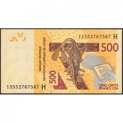 Niger - Pick 619Hb - 500 francs - 2013 - Etat : NEUF