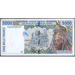 Niger - Pick 613Hl - 5'000 francs - 2003 - Etat : SUP-