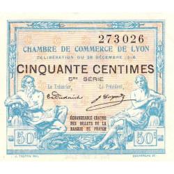 Lyon - Pirot 77-12 - 50 centimes - 5ème série - 1916 - Etat : SPL