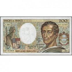 F 70-01 - 1981 - 200 francs - Montesquieu - Série C.001 - Etat : TTB