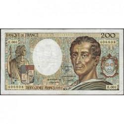 F 70-01 - 1981 - 200 francs - Montesquieu - Série E.001 - Etat : TB-