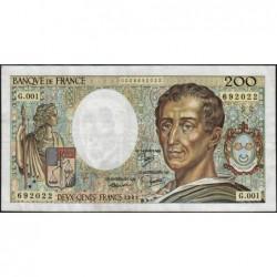 F 70-01 - 1981 - 200 francs - Montesquieu - Série G.001 - Etat : TTB