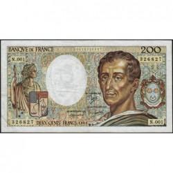 F 70-01 - 1981 - 200 francs - Montesquieu - Série N.001 - Etat : TB