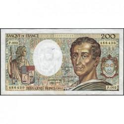 F 70-01 - 1981 - 200 francs - Montesquieu - Série P.002 - Etat : TB
