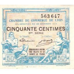 Lyon - Pirot 77-12 - 50 centimes - 5ème série - 1916 - Etat : TTB+