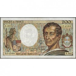 F 70-01 - 1981 - 200 francs - Montesquieu - Série B.005 - Etat : TB