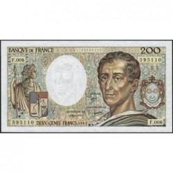 F 70-01 - 1981 - 200 francs - Montesquieu - Série F.006 - Etat : SUP+