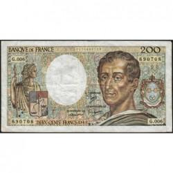 F 70-01 - 1981 - 200 francs - Montesquieu - Série G.006 - Etat : TB-