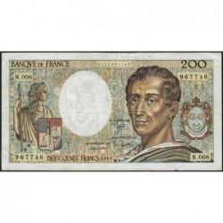 F 70-01 - 1981 - 200 francs - Montesquieu - Série N.006 - Etat : TB