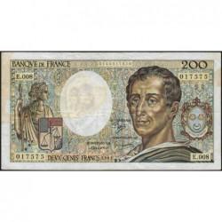 F 70-01 - 1981 - 200 francs - Montesquieu - Série E.008 - Etat : TB-