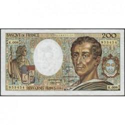 F 70-01 - 1981 - 200 francs - Montesquieu - Série K.008 - Etat : TTB-