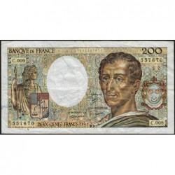 F 70-02 - 1982 - 200 francs - Montesquieu - Série C.009 - Etat : TB-