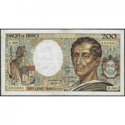F 70-02 - 1982 - 200 francs - Montesquieu - Série E.009 - Etat : TB
