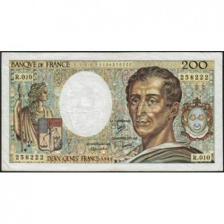 F 70-02 - 1982 - 200 francs - Montesquieu - Série R.010 - Etat : TB